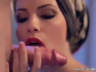 Steamy Bathroom Erotic Blowjob