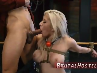 Solo bondage Big-breasted blondie beauty