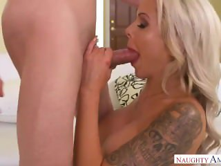 Step Mom Nina Elle Takes Young Cock