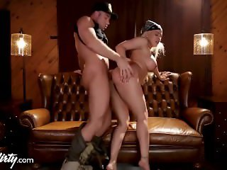 Luna Star Caught and Fucked by Dirty Border Cop!
