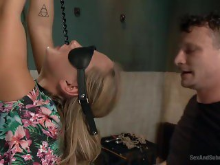 Young girl chained and fucked