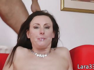 Brit classy mature cockriding reversecowgirl