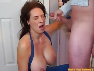 CC MILF Blackmailed Into Angry BJ