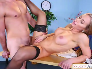 Nicole Aniston Rides Dick In Sexy Stockings