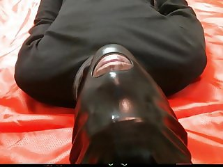 Slave Hubby Gets Pissed On While he Licks
