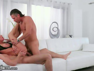 Peter North Watches his Hot MILF Wife get DP'd!