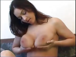 Pretty and saggy woman solo
