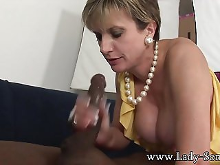 British MILF Lady Sonia fucks and sucks a HUGE BBC