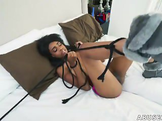 Amateur tied gagged and fucked Brittney