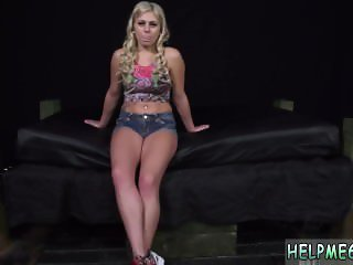 Man tied to chair and blonde teen jerk xxx