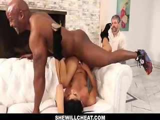 SheWillCheat- Gina Valentina Fucks BBC While Husband Watches