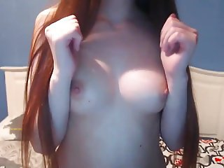 Sexy Teen Striptease, Hairplay and Brushing, Long Hair, Hair