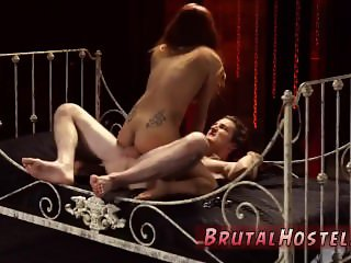 Sex slave tied to bed and fucked Poor tiny