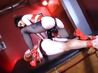 Red Latex Dom Pegs Slave