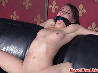 Tattooed bdsm sub punched in face by maledom
