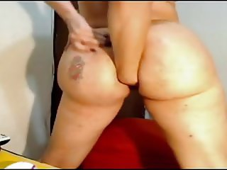 Big Ass Latina Fisting Both Holes