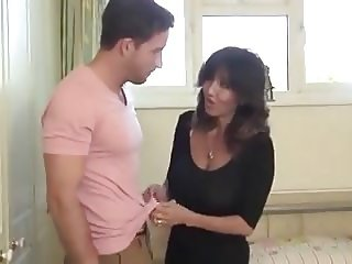 Hot milf serviced by young stud