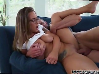 Mom and step dad spank companion's daughter