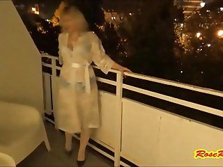 RoseRedRus - Striptease on the balcony