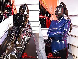 RubberGirl in heavy rubber bondage