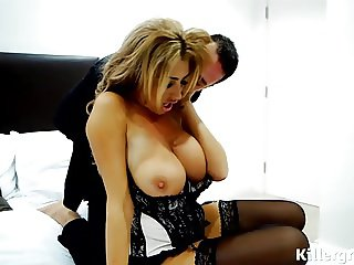 Huge boobs porn babe fucked doggystyle