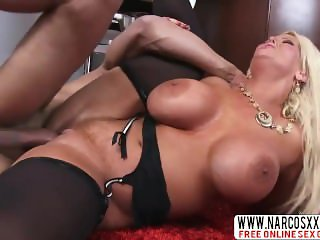 Cruel Step Mother Alura Jenson In Stockings Dreams About Mega Fuck