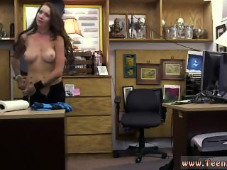 Black girl white guy on chair and big boobs