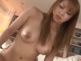 Ruru Kashiwagi shakes the big tits in scenes of hard sex
