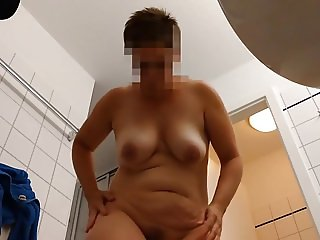 hidden cam - wife exposed after shower