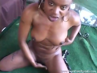 Black Teen Sucking Down White Dick