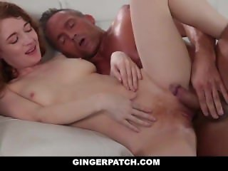 GingerPatch - Skinny Redhead Gets Fucked While Playing