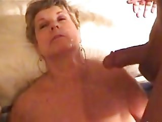 GILF gets jizzed on, at two different times!