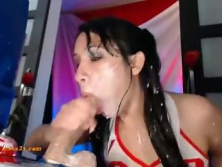 Horny mom fuck new dildo