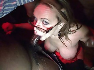 Wife's Holiday Blowbang at Swingers Club