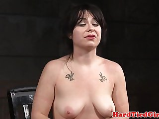 BDSM sub tied up and whipped to get cheap car