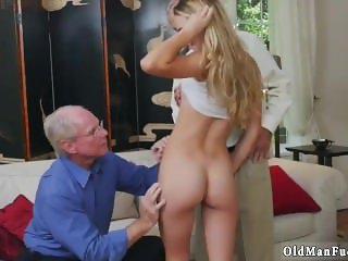 Daddy skinny fucks random white first time