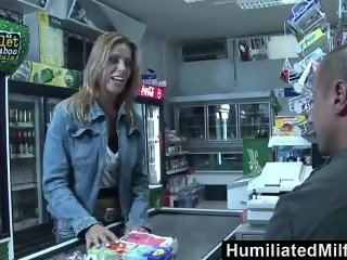 HumiliatedMilfs - Slutty milf sucks and fucks at the convenience store