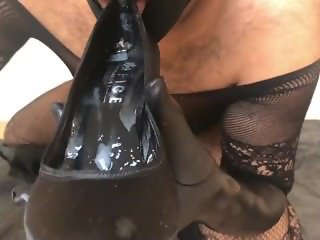 Cum in heels part 2