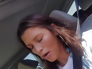Cute Milf Rubbing cum on her face