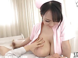 Busty asian nurse with huge tits