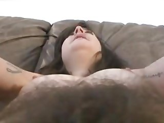 hairy girl gives permission to lick her hairy butt