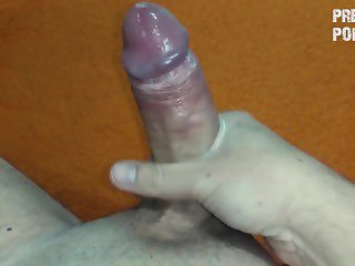Hand cream masturbation with a nice cumshot at the end