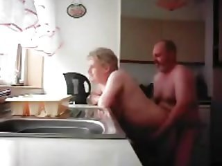 Grandma and Grandpa in Kitchen
