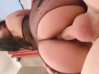 Asian With Juicy Ass Rides In Her New Outfit @planesgirl