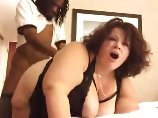 Chubby BBW MILF Sucks And Fucks BBC