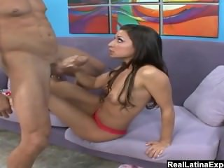 RealLatinaExposed - Foxy Latina Ann Marie Rios takes on a big cock