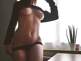 Stripping by the window