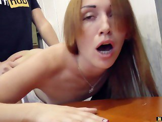 Great sex on the kitchen table.