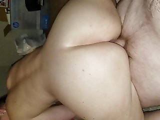 Girlfriend fucks a stranger bareback while bf films P1