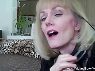 Sucking Step Sons Cock and Cum
